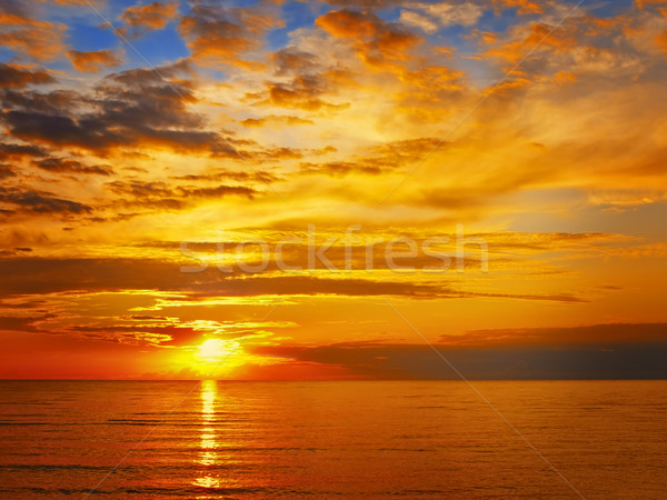 Stock photo: sunset at the sea
