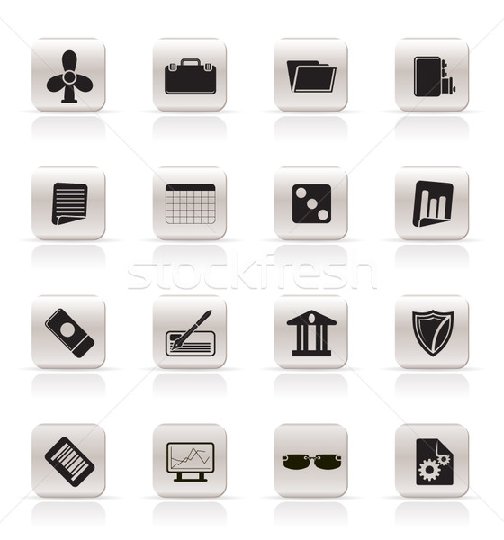 Stock photo: Simple Business and Office Icons