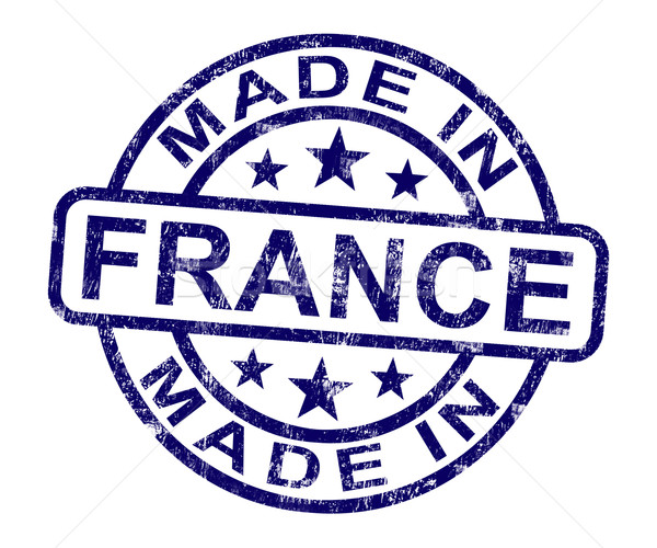 Made in france stamp shows french product or produce stock for Made in the south craft shows