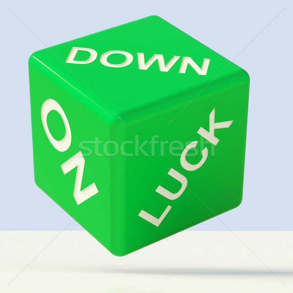 Stock photo: Down On Luck Dice Meaning Failure And Losing