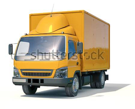 Stock photo: Truck on a light background