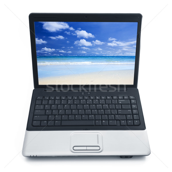 Stock photo: Summertime at notebook screen