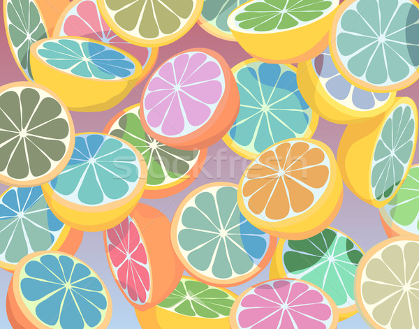 Stock photo: Colorful citrus fruit
