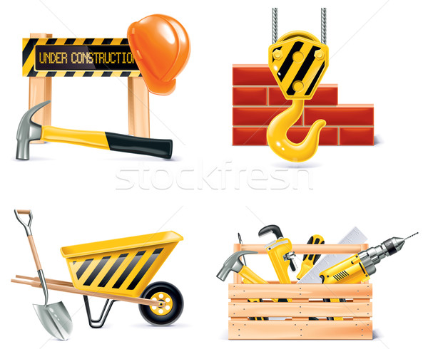Stock photo: Vector Homebuilding & Renovating icon set. Part 4
