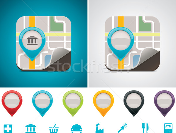 Stock photo: Customizable map location icon