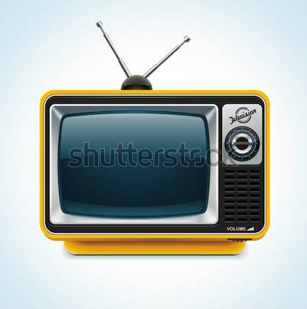 Stock photo: Vector retro TV XXL icon