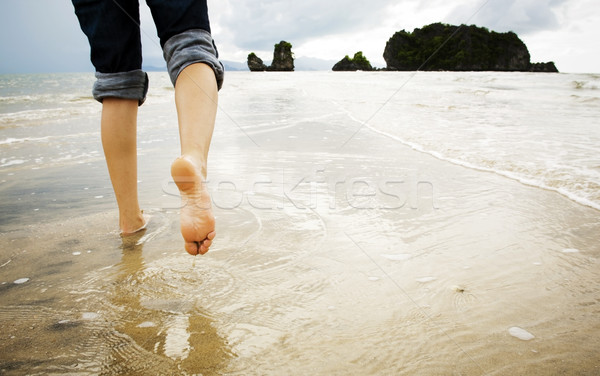 Stock photo: Beach Walking