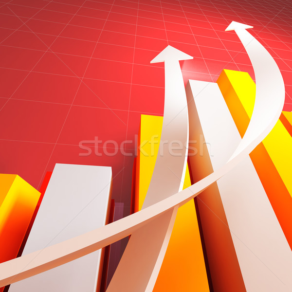 Stock photo: business chart graph