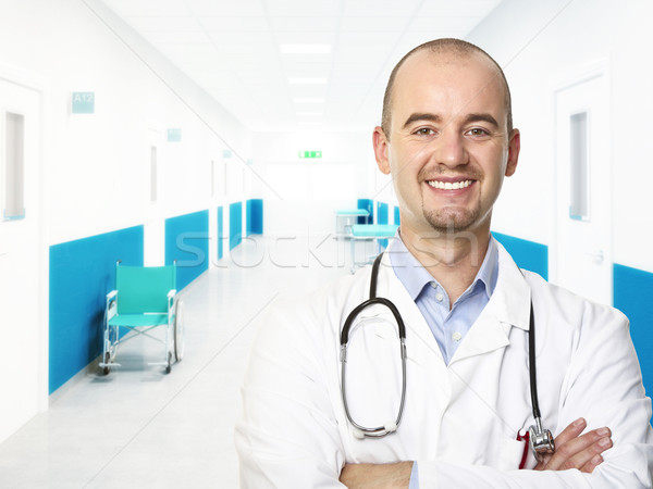 Stock photo: young doctor portrait