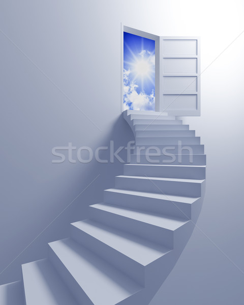 Stock photo: Stairway to the freedom