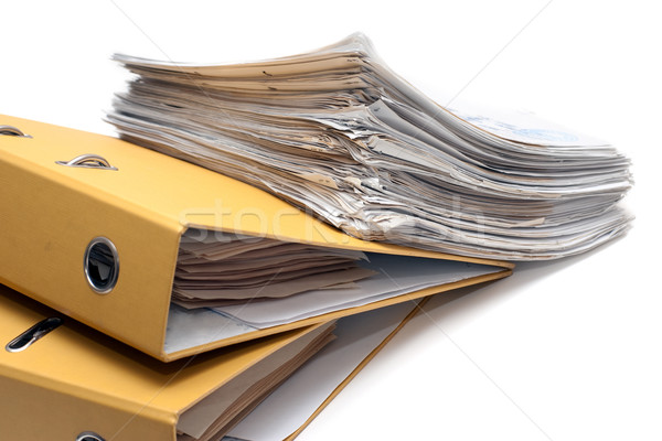 Stock photo: Two folders and pack of documents