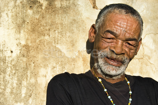 Grumpy Old Men Outtakes Quotes: Old African Black Man With Characterful Face Stock Photo
