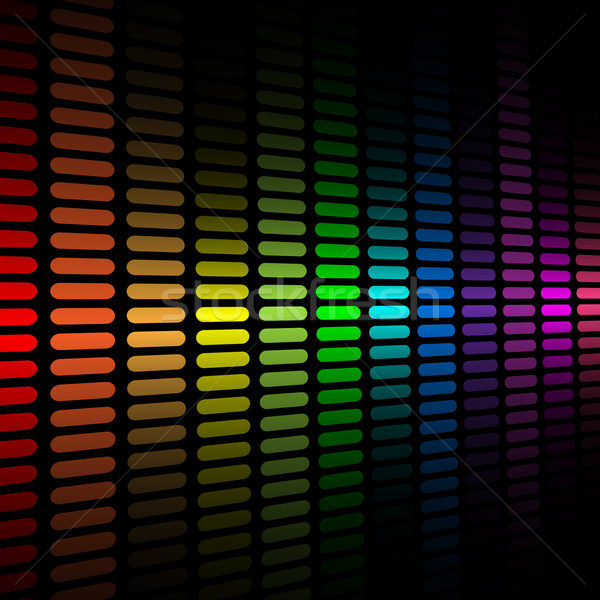 Stock photo: Vector background with abstract color spectrum music graphic equ