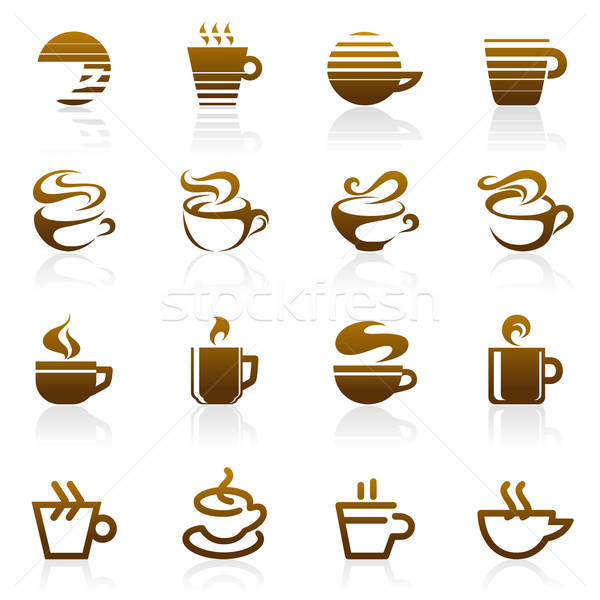 Stock photo: Coffee. Vector logo template set. Elements for design.