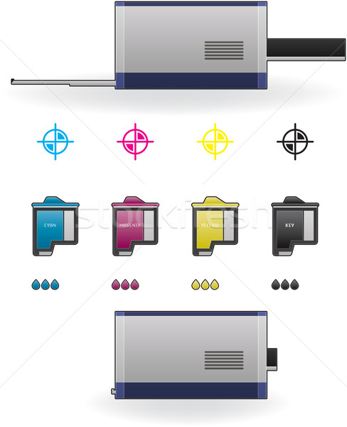 Stock photo: InkJet Printer