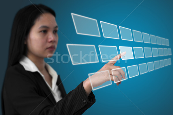 Stock photo: touchscreen interface