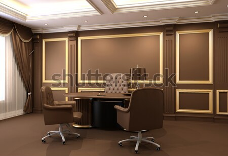 Conference table in royal office interior space old for Office design victoria