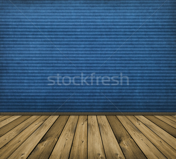 Stock photo: blue interior