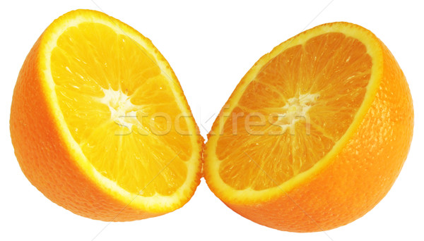 Stock photo: Orange divided in half