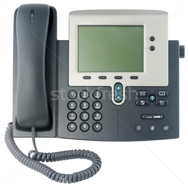 Office telephone set front view stock photo © Vitaliy Shabalin ...