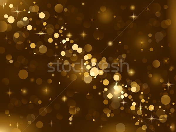 Magic lights background sparkle blurred vector light by wenani