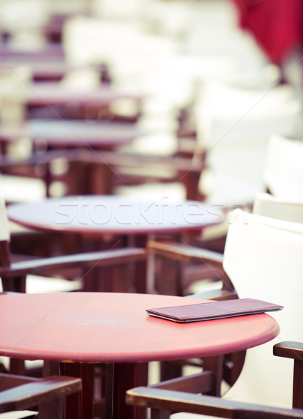 Stock photo: summer cafe