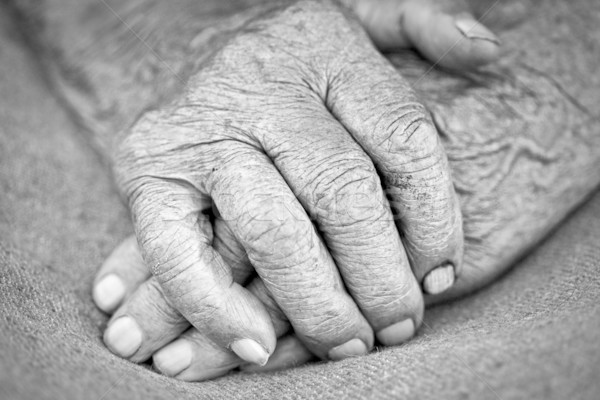 Stock photo: old woman hands