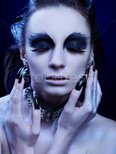Stock photo: vulture girl
