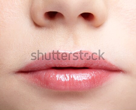 Stock photo: girl's lips