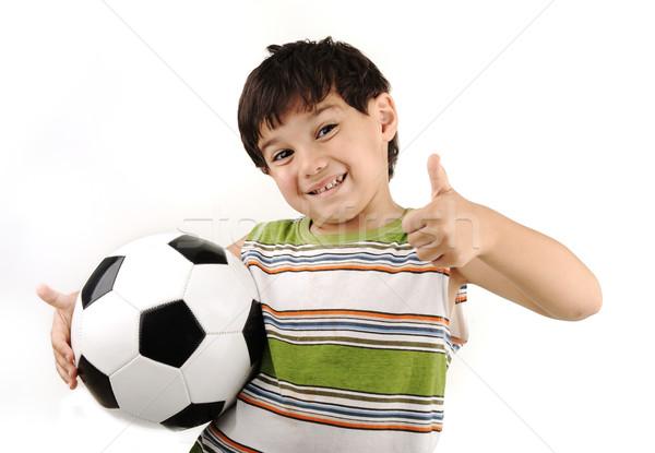 870450 Sport boy, football thumb up! by zurijeta